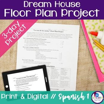 Spanish Dream House Floor Plan Project by Miss Senorita TpT