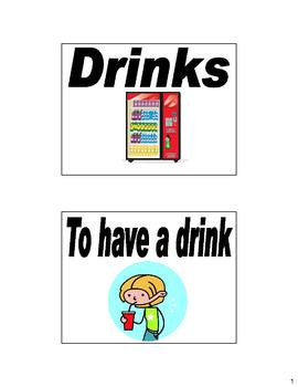 Spanish Drinks (Las bebidas) Flash Cards & Bulletin Board Unit