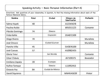Spanish Driver's License Activities