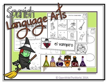Spanish Dual Language Kindergarten Halloween Pack