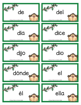 spanish dual language kindergarten sight word freebie by open wide the world. Black Bedroom Furniture Sets. Home Design Ideas
