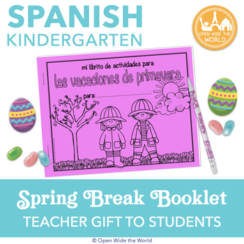 Spanish Dual Language Kindergarten Spring Break Activity Pack