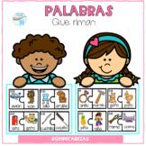 Spanish Dual Language, Palabras que riman, rompecabezas
