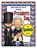 Spanish Dual Language Presidents Day el Día del Presidente