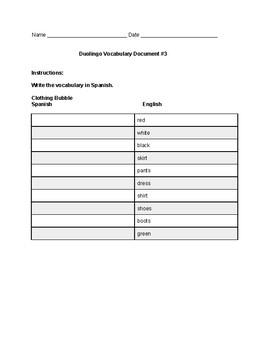 Spanish Duolingo #3
