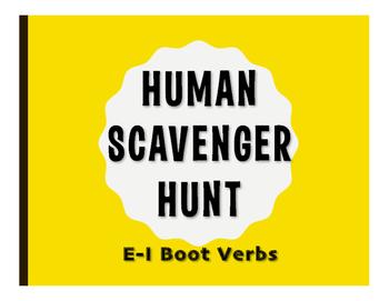 Spanish E-I Boot Verb Human Scavenger Hunt