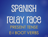 Spanish E-I Boot Verb Relay Race