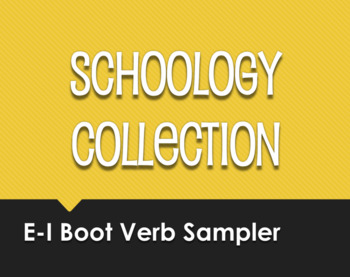 Spanish E-I Boot Verb Schoology Collection Sampler