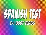 Spanish E-I Boot Verb Test
