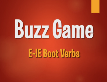 Spanish E-IE Boot Verb Buzz Game