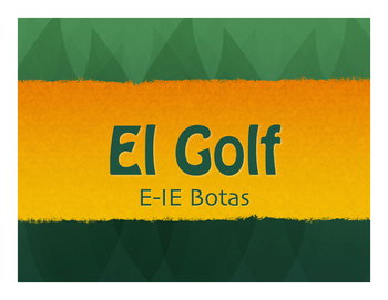 Spanish E-IE Boot Verb Golf
