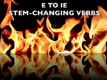 Spanish E to IE Stem-changing Verbs BUNDLE- Slideshows, Worksheets Pack