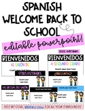Spanish EDITABLE Welcome Back to School/ Open House PPT!