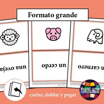 Flashcards to teach Spanish/ELE: Animales de granja/Farm animals