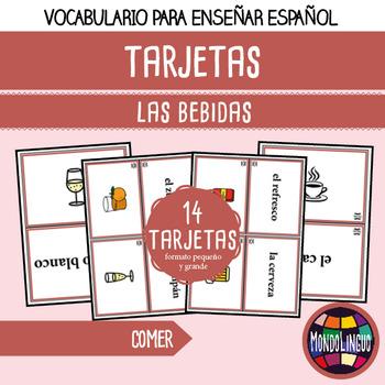 Flashcards to teach Spanish/ELE: Bebidas/Drinks