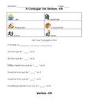 Spanish -ER Conjugation Student Note Sheet