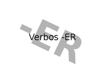 Spanish -ER Guided Notes
