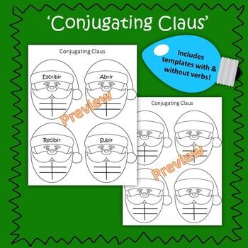 Spanish ER & IR Verb - Christmas Conjugation Practice