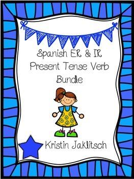Spanish ER & IR Verb Present Tense Bundle