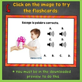 Spanish ER Verbs Flashcards, Spanish IR Verbs Listening Digital Flashcards