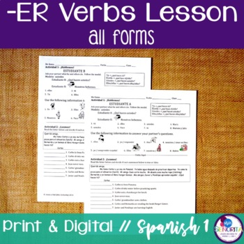 Spanish -ER Verbs Lesson - all forms