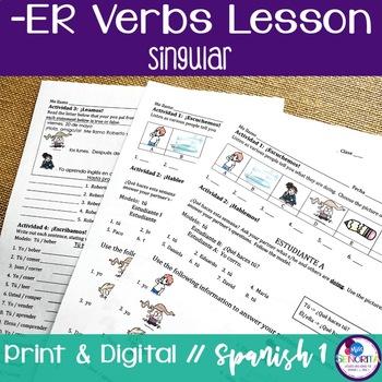 Spanish -ER Verbs Lesson - singular only
