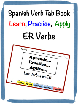 Spanish ER Verbs Tab Book