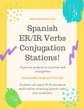 Spanish ER and IR Verb Conjugation Stations