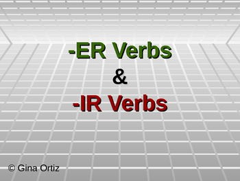 Spanish -ER and -IR Verb Conjugations in Present Tense Pow