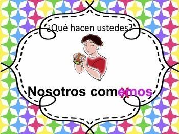 Spanish -ER verbs Powerpoint - singular & plural