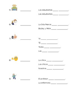 Spanish- ESTAR Expression and Conjugation Practice