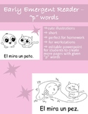 """Spanish Early Emergent Reader Book - palabras con """"P"""" (Editable)"""