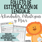 Spanish Early Intervention Language Handouts for Play- Spe
