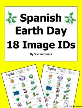 Spanish Earth Day 18 Vocabulary Image IDs - Día de la Tierra