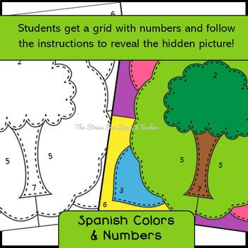 Spanish Earth Day, El Día de la Tierra Mystery Pictures! Color By Number