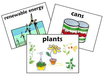 Earth Day PowerPoint, Bulletin Board Signs and Vocabulary - 29 Slides