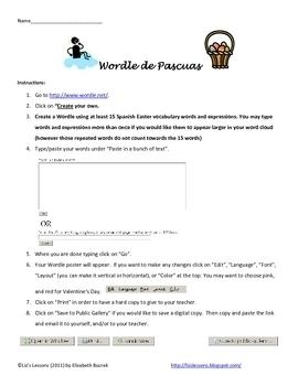 Spanish Easter Activities! Vocabulario y Actividades para las Pascuas!