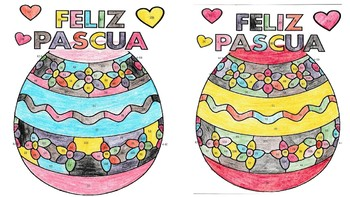 Spanish Easter Color By Number page (2 Forms!)