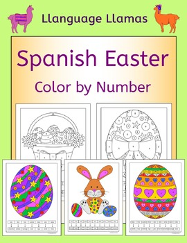 Spanish Easter Color by Numbers
