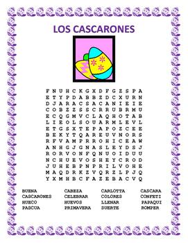 Cultural Unit- Los Cascarones -Reading Comprehension - SUB plan