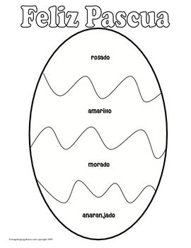Spanish Easter Egg Coloring Sheet