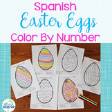 Spanish Color by Number Easter Eggs 1-10, 1-20, 1-100