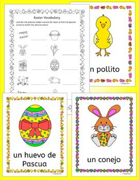 spanish easter activities puzzles and color by number cards by llanguage llamas. Black Bedroom Furniture Sets. Home Design Ideas