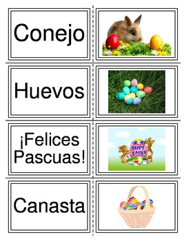 Spanish Easter Flashcards or Memory Game Pascua