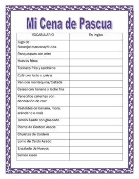 Spanish Easter Foods -Mis Comidas de Pascua- Food in Spanish-Spring