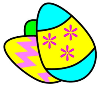 Spanish Easter Vocabulary - Color by Number and Label