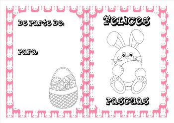 Spanish Easter coloring cards (1)
