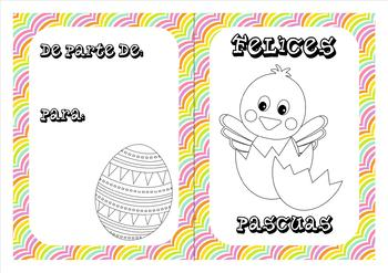 Spanish Easter coloring cards (2)