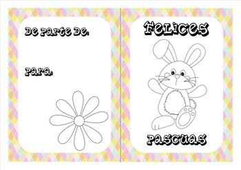 Spanish Easter coloring cards (4)