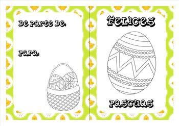 Spanish Easter coloring cards (5)